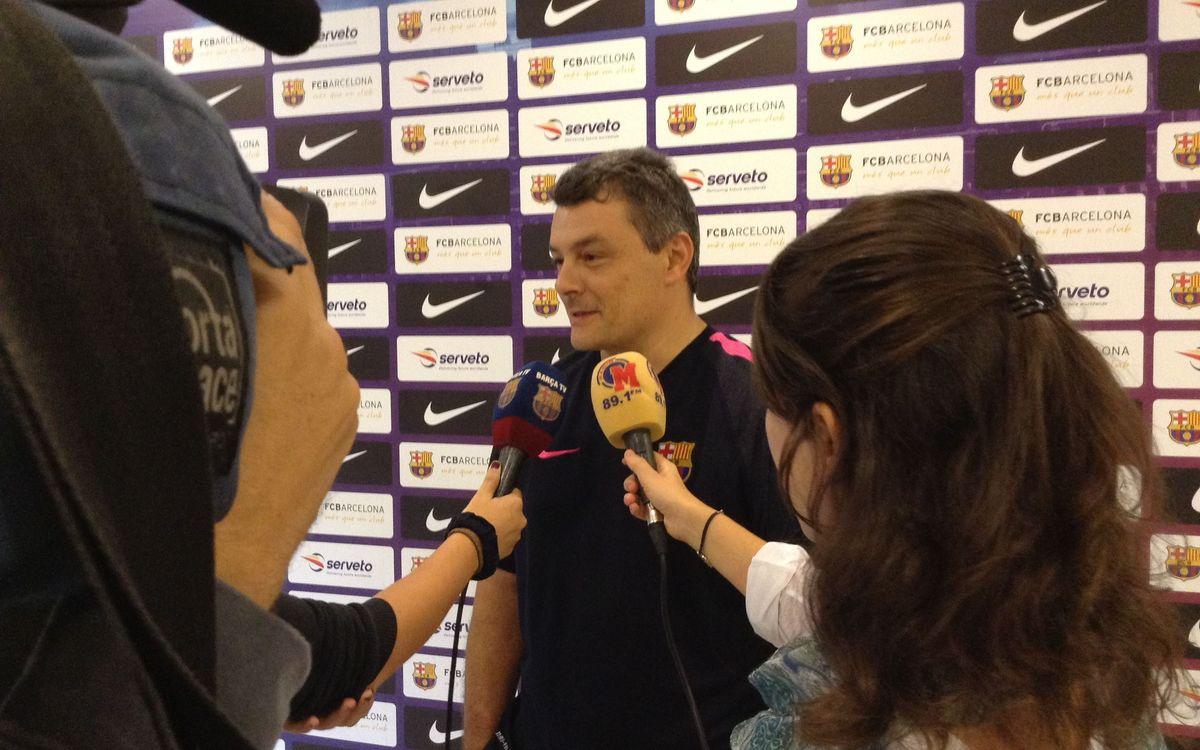 """Xavi Pascual: """"En línies generals, estic bastant satisfet amb l'equip"""""""