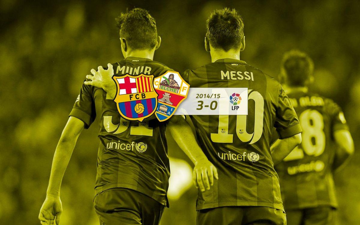 FC Barcelona: 3 - Elx: 0