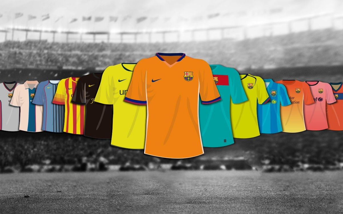 Do you remember every away kit Barça has had?