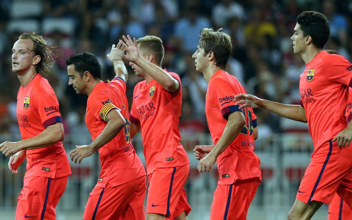 OGC Niça - FC Barcelona: Empat ben treballat (1-1)
