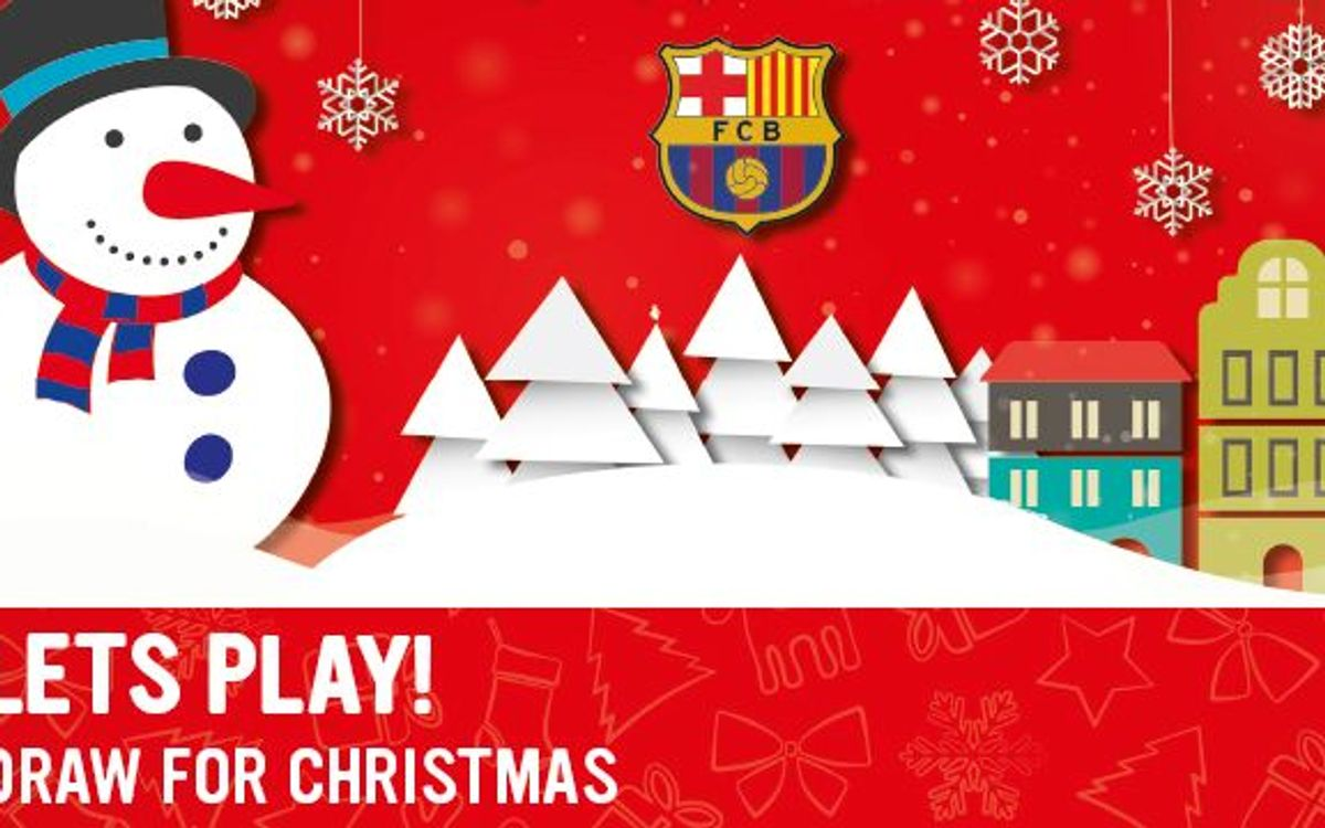 Draw your Barça Christmas card 2014