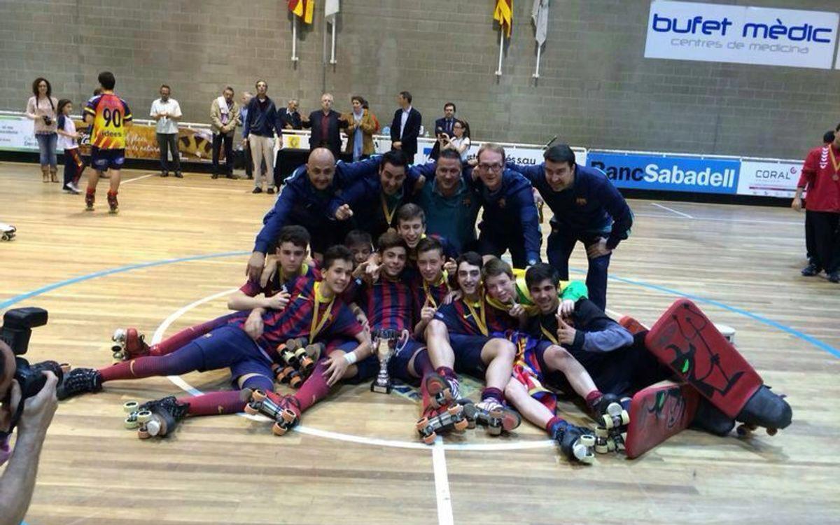 El equipo infantil del Barça se adjudica el Campeonato de Catalunya