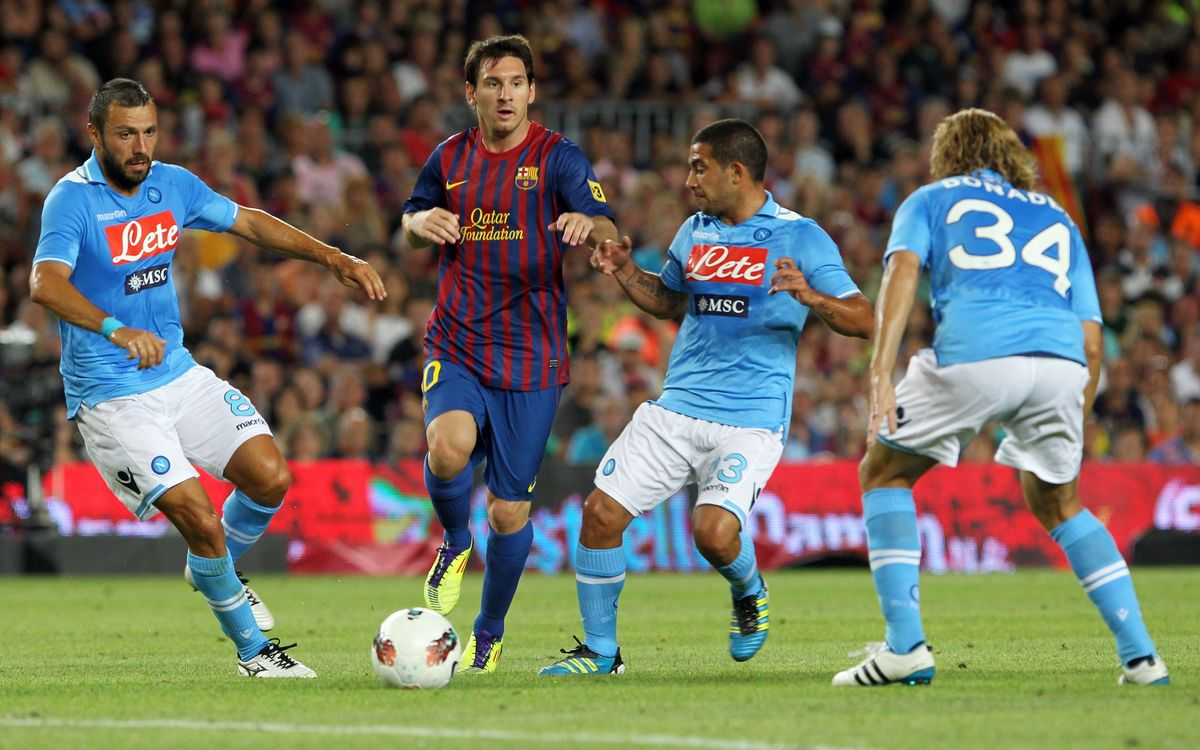 Barça's last meeting with Napoli