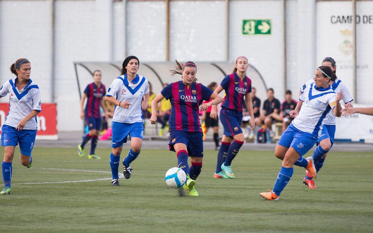El Femenino A vuela hacia la final de la Copa Catalunya (9-1)