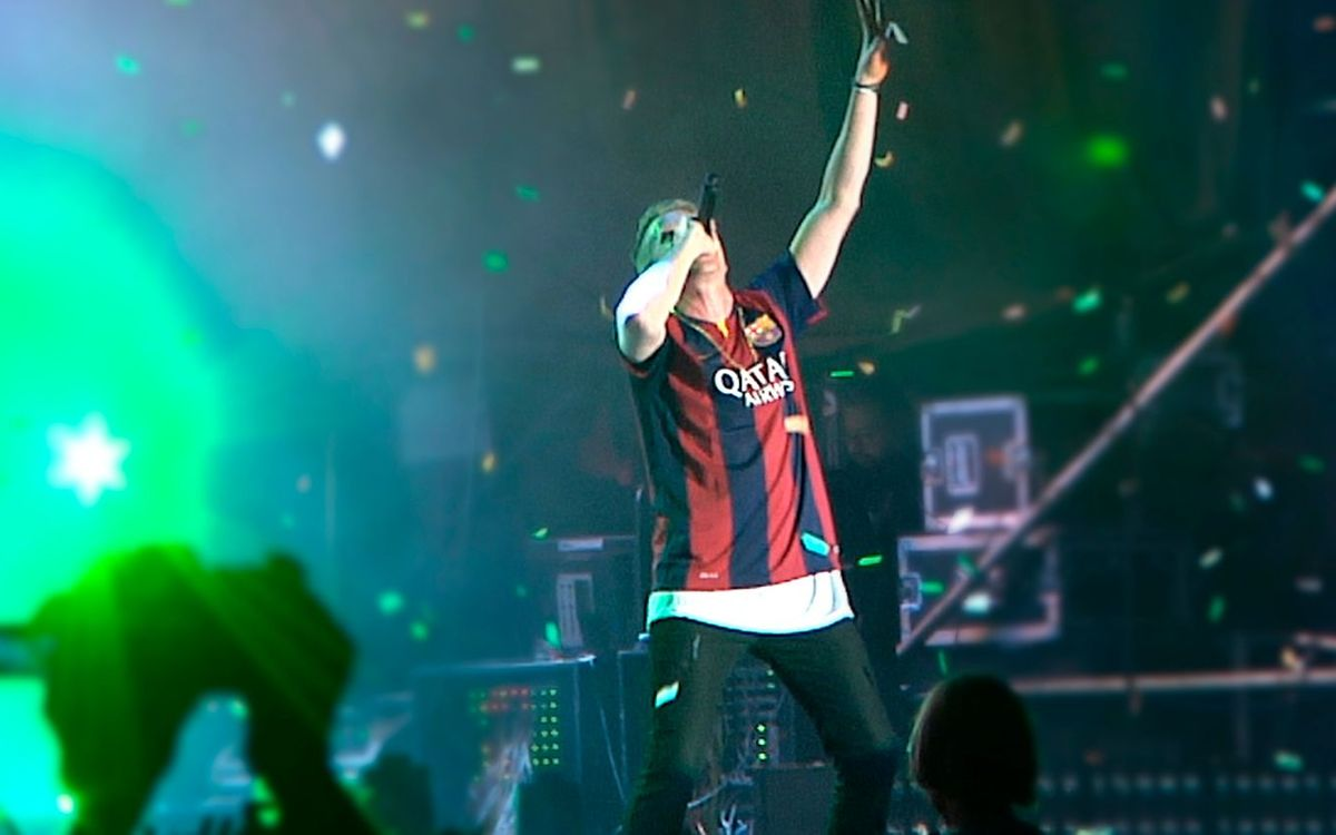 Macklemore turns the Cruïlla Festival blaugrana