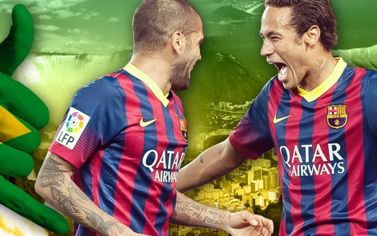 Dani Alves and Neymar Jr, in the Brazil squad for the World Cup