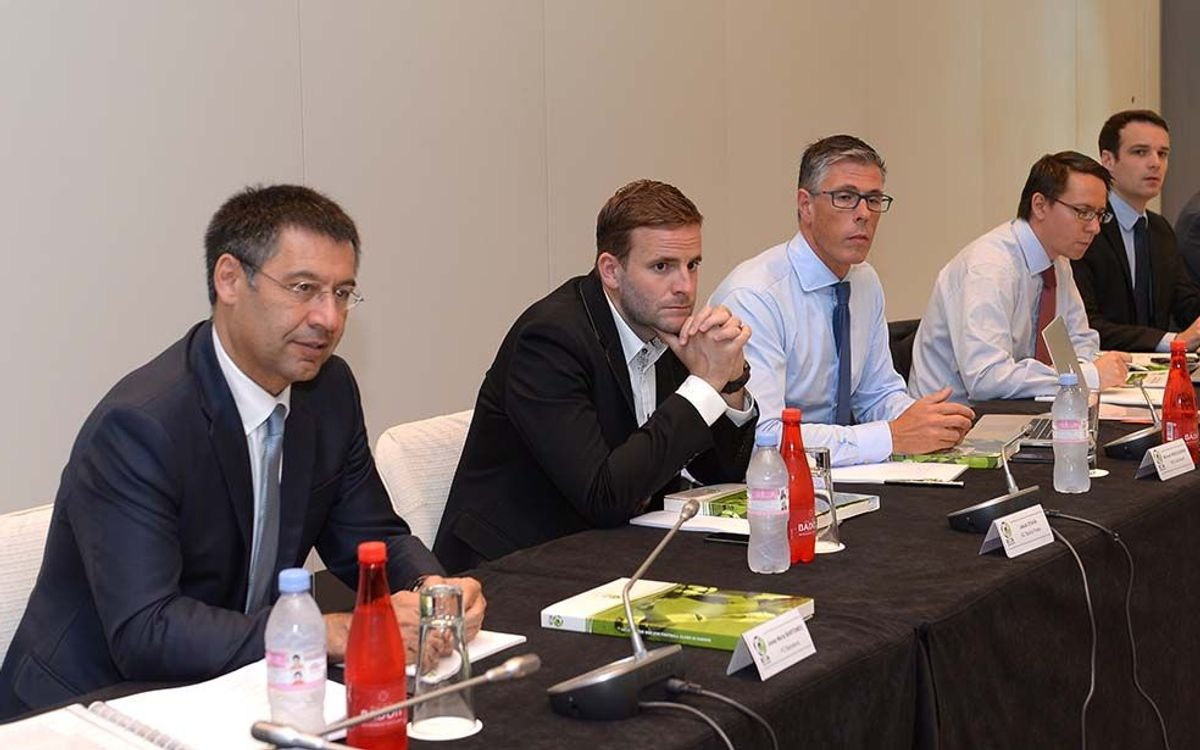 Club President Josep Maria Bartomeu attends first ECA executive