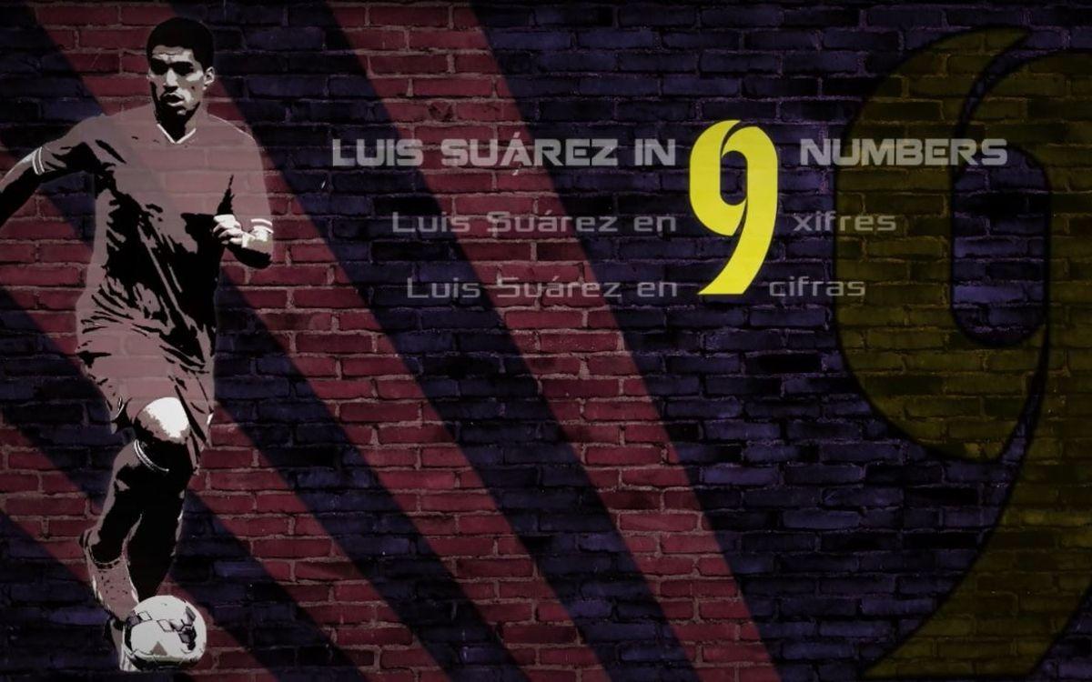 Luis Suárez, en nueve cifras
