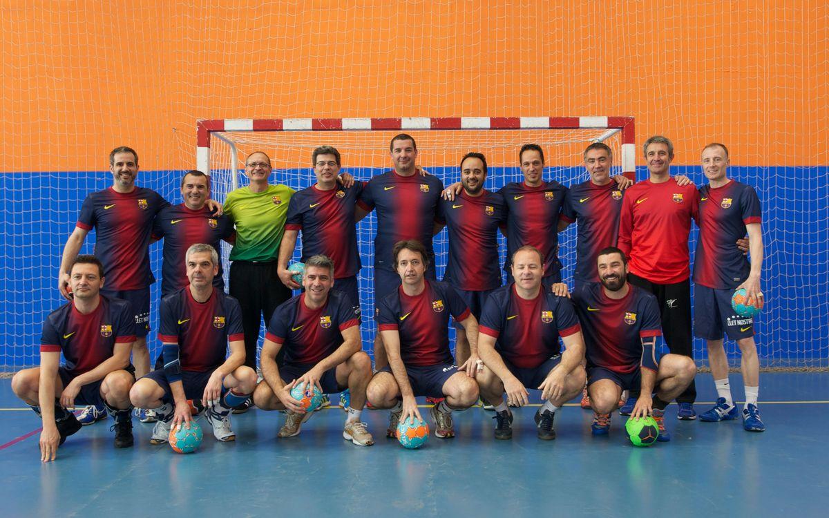Los veteranos del Barça de balonmano juegan en Castellbisbal