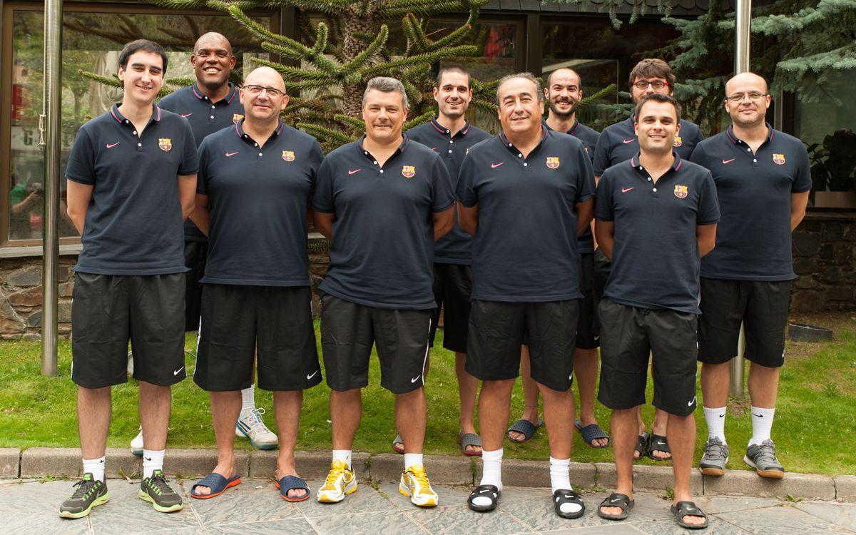 El staff del equipo de balonmano