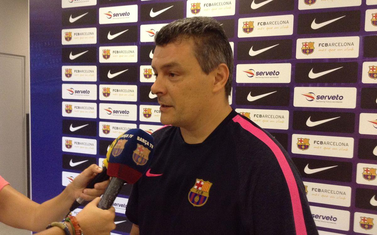 """Xavi Pascual: """"Zamora està fent bons resultats en el seu debut a l'Asobal"""""""