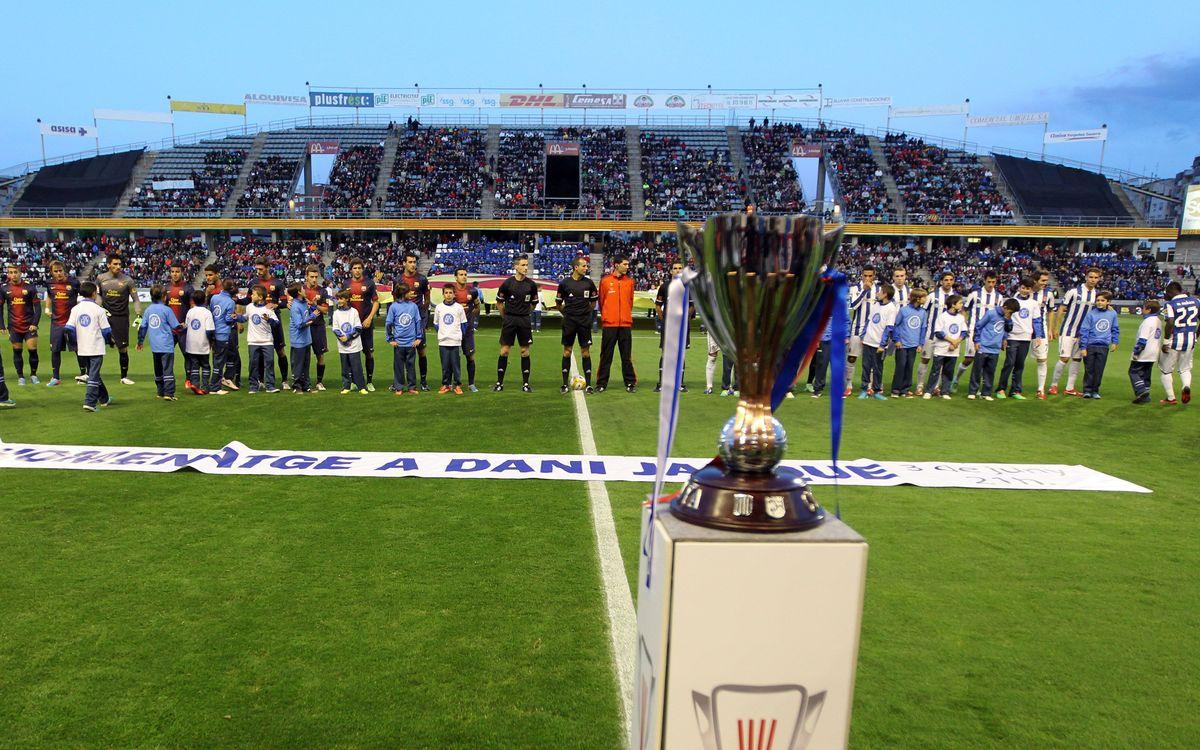 Girona-FCB: La Copa Catalunya, en escena