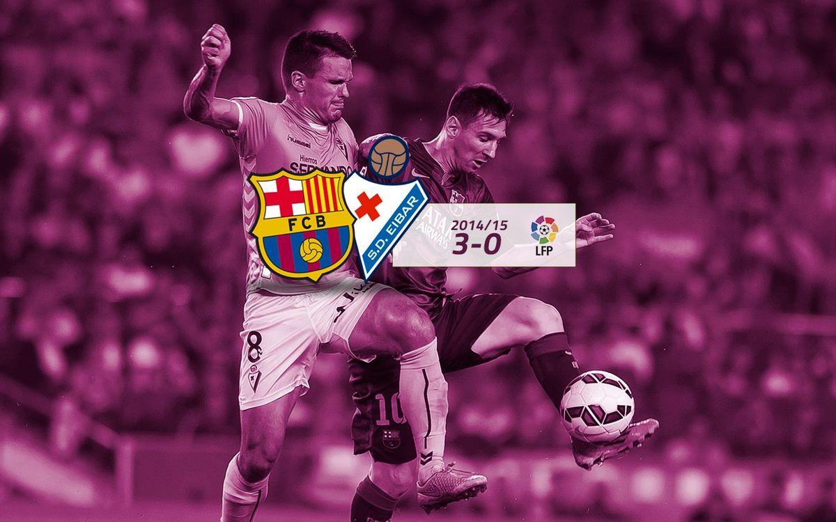 FC Barcelona: 3 - Eibar: 0