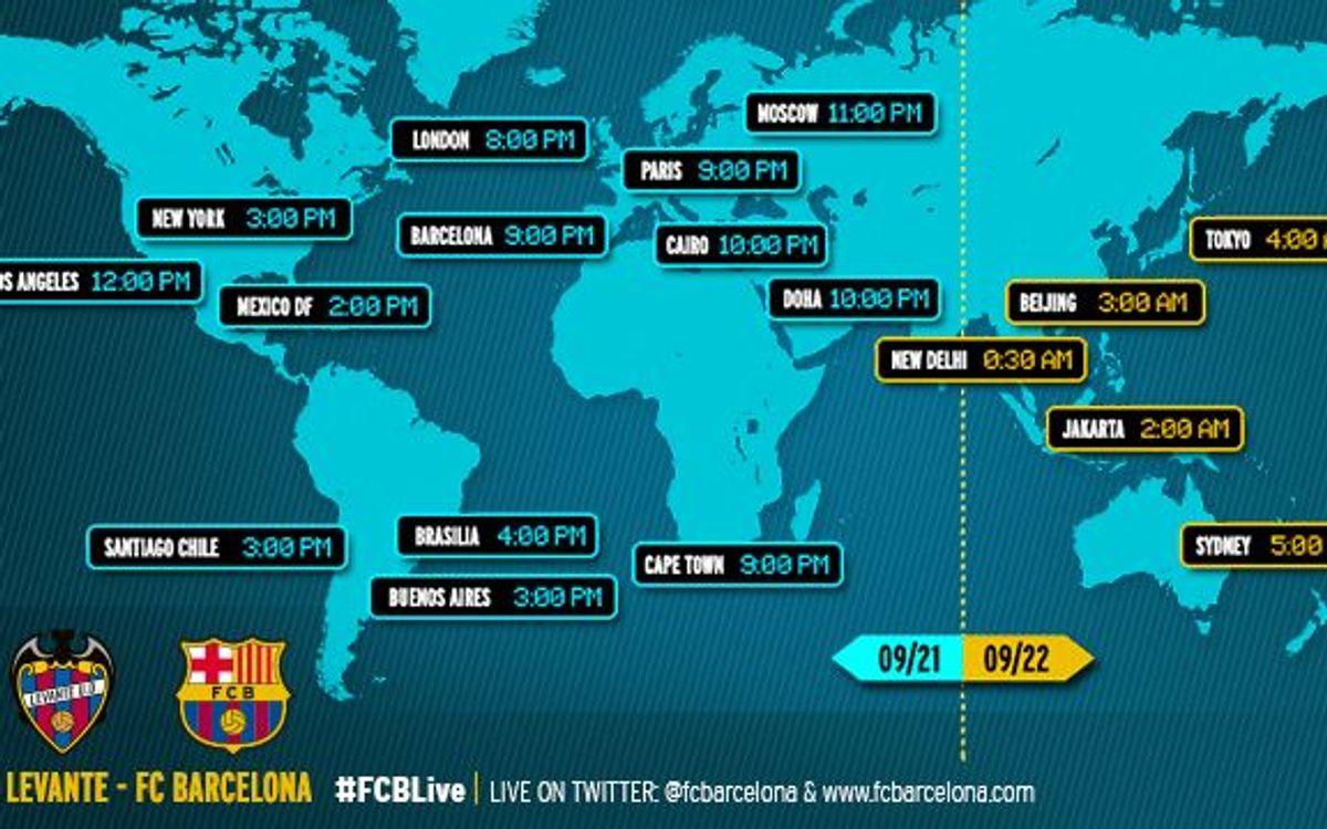 Quan i on veure el partit de la Lliga espanyola entre el Llevant UD i el FC Barcelona