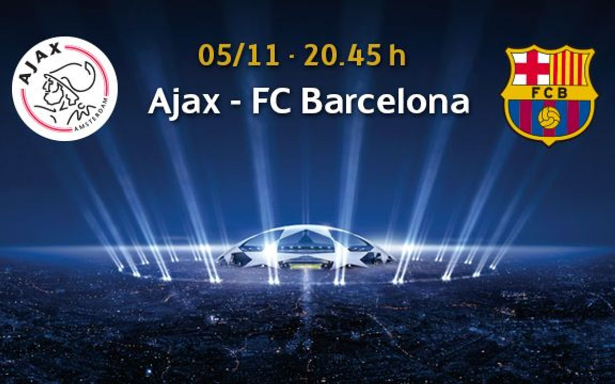 Ajax v Barça, tickets from October 21