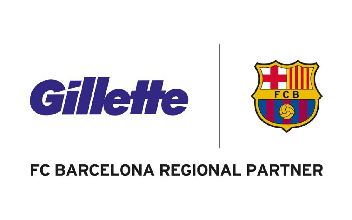Presentació de l'acord entre el FC Barcelona i Gillette, amb Leo Messi com a ambaixador