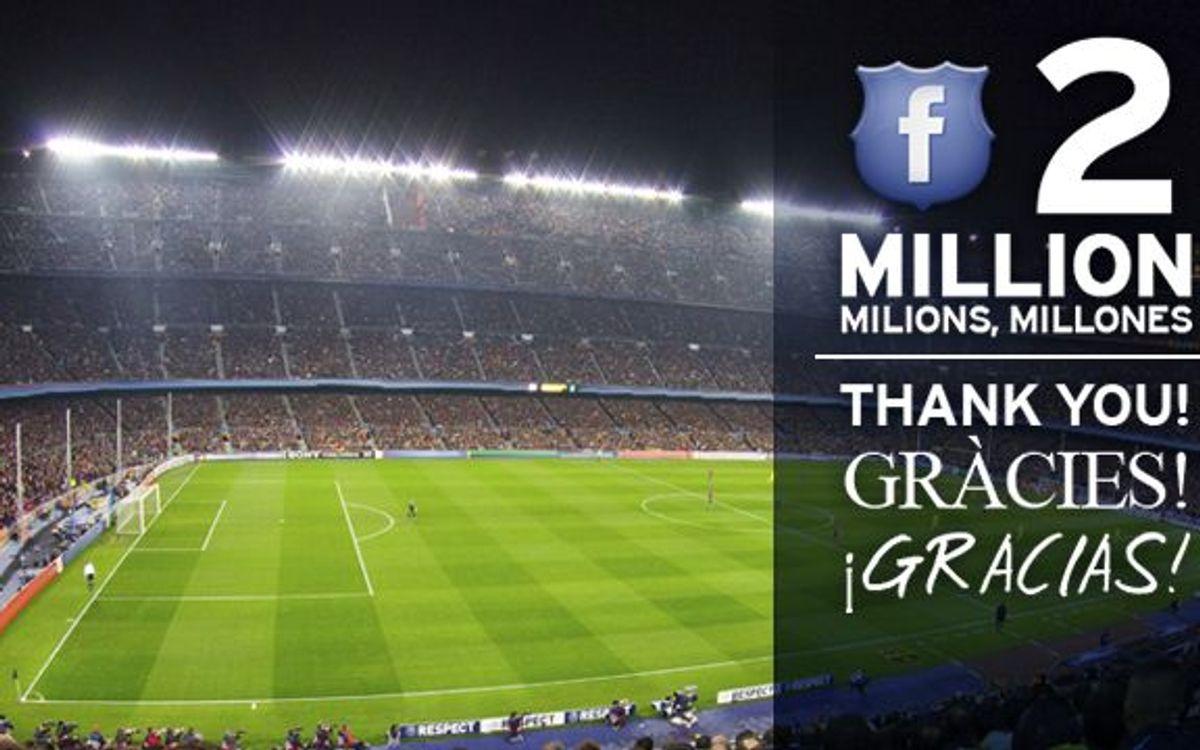 2 milions de gràcies!