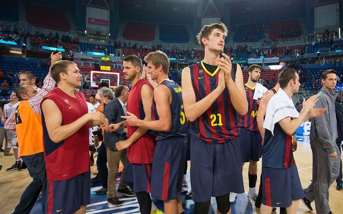 Les reaccions dels jugadors del Barça després del triomf contra el Baskonia