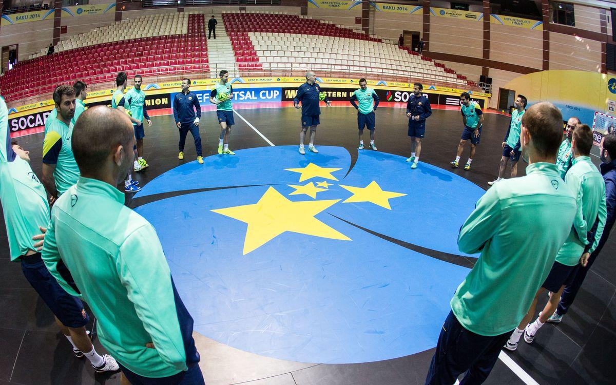 El Barça Alusport està a un pas de tornar a jugar la final de la UEFA Futsal Cup