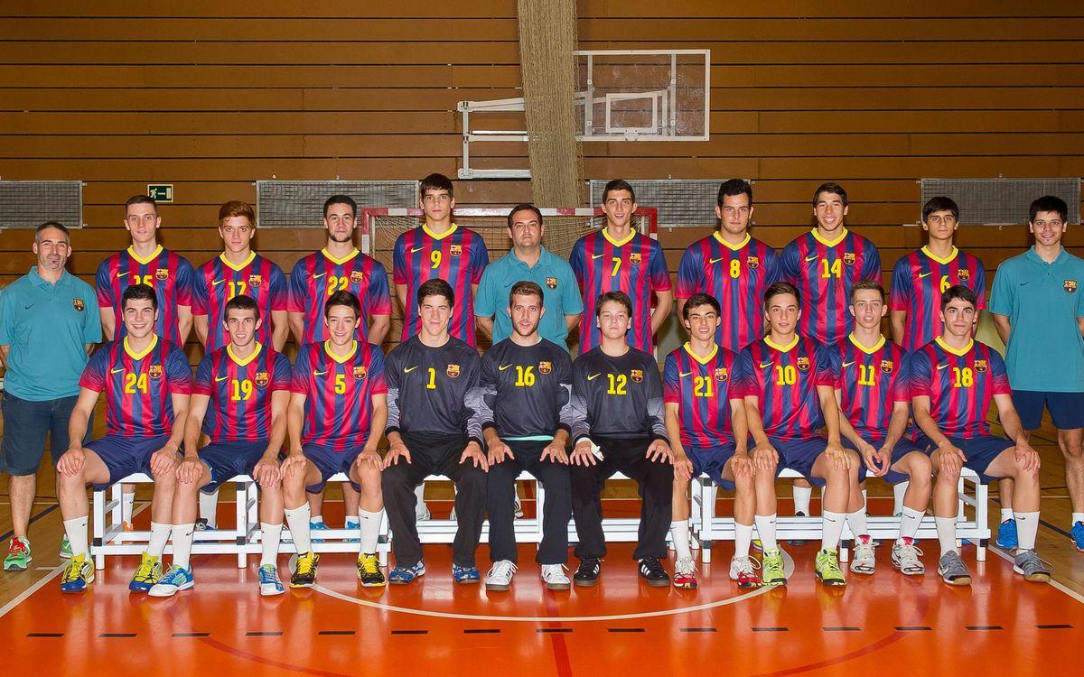El Juvenil del Barça de balonmano, campeón estatal