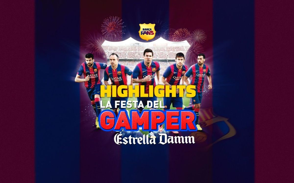 The Joan Gamper Trophy's Party