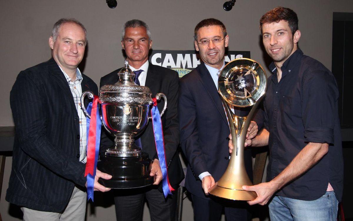 Cena de celebración de la UEFA Futsal Cup y la Copa del Rey