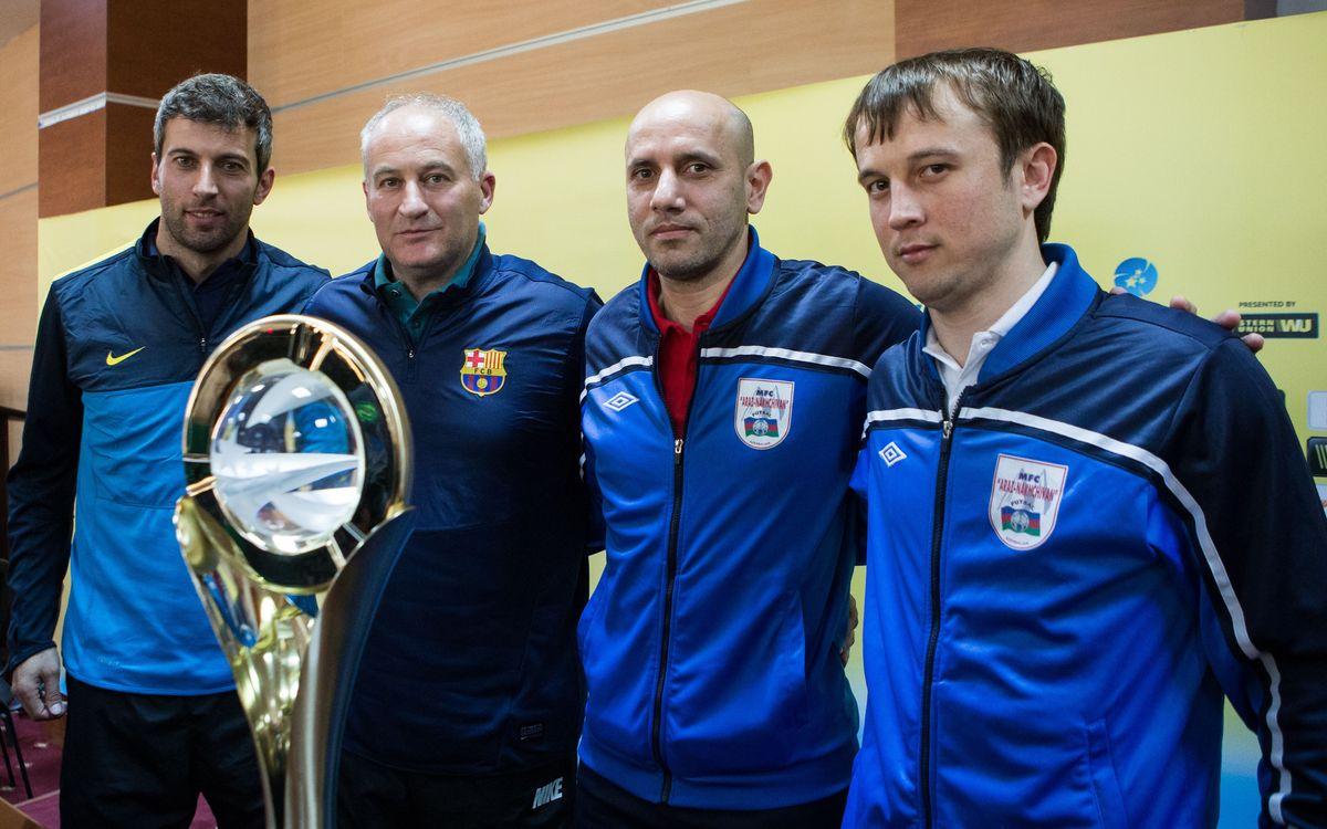 El entrenador del Araz, Alesio, es un ex jugador azulgrana