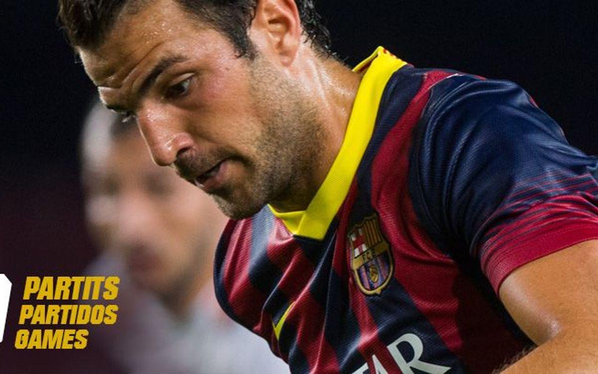 Cesc Fàbregas, one short of 150 games for FC Barcelona