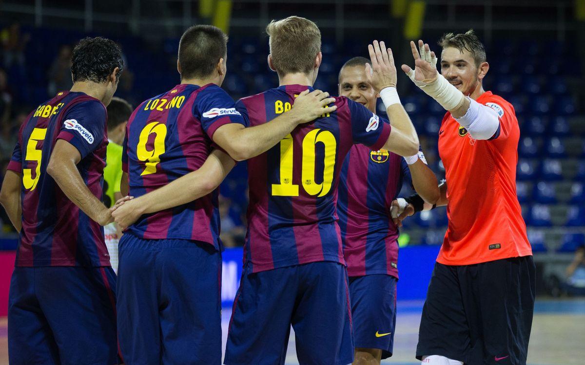El Barça és el millor equip de la LNFS en el balanç de gols marcats i encaixats