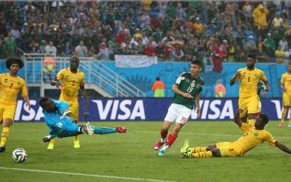 Song's Cameroon are defeated by Mexico (1-0)