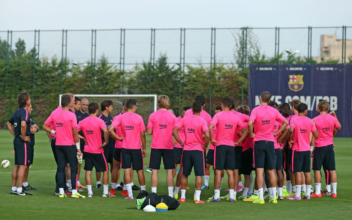 24 players at Monday evening training
