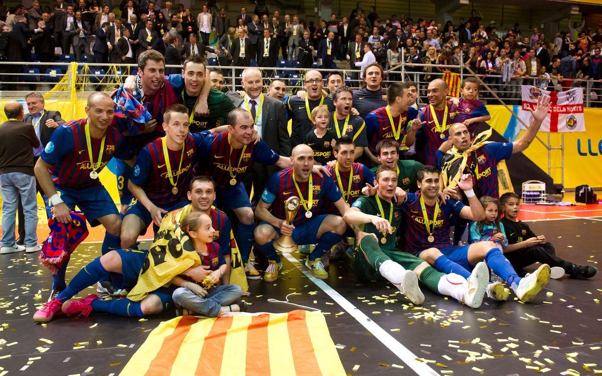 El próximo martes hará dos años que el Barça Alusport ganó su primera UEFA Futsal Cup