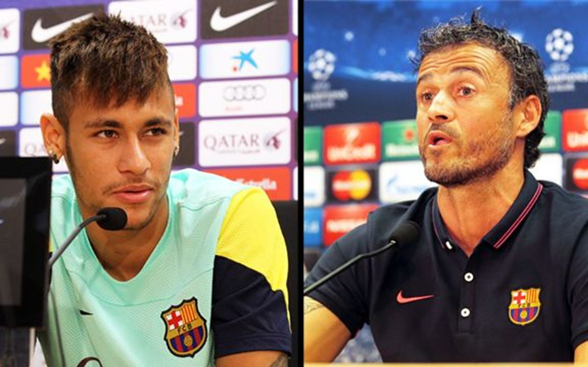 Live! Neymar Jr and Luis Enrique press conference