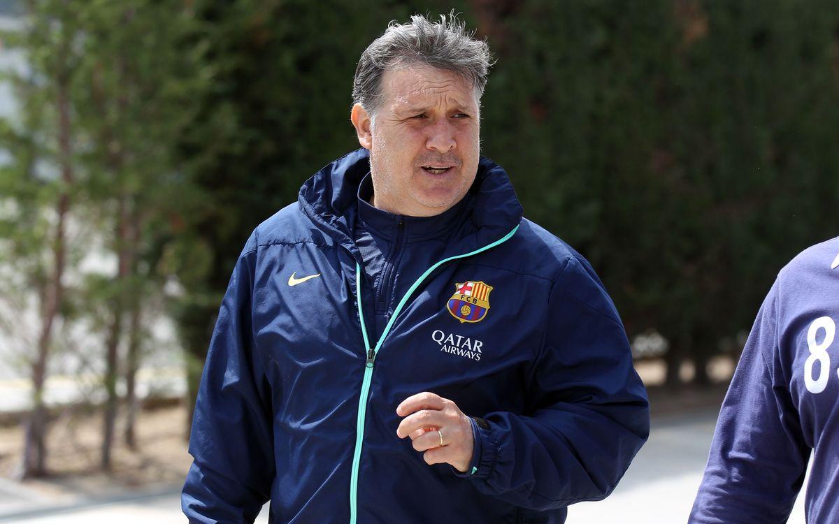 "Tata Martino: ""L'équipe ne baissera pas les bras"""