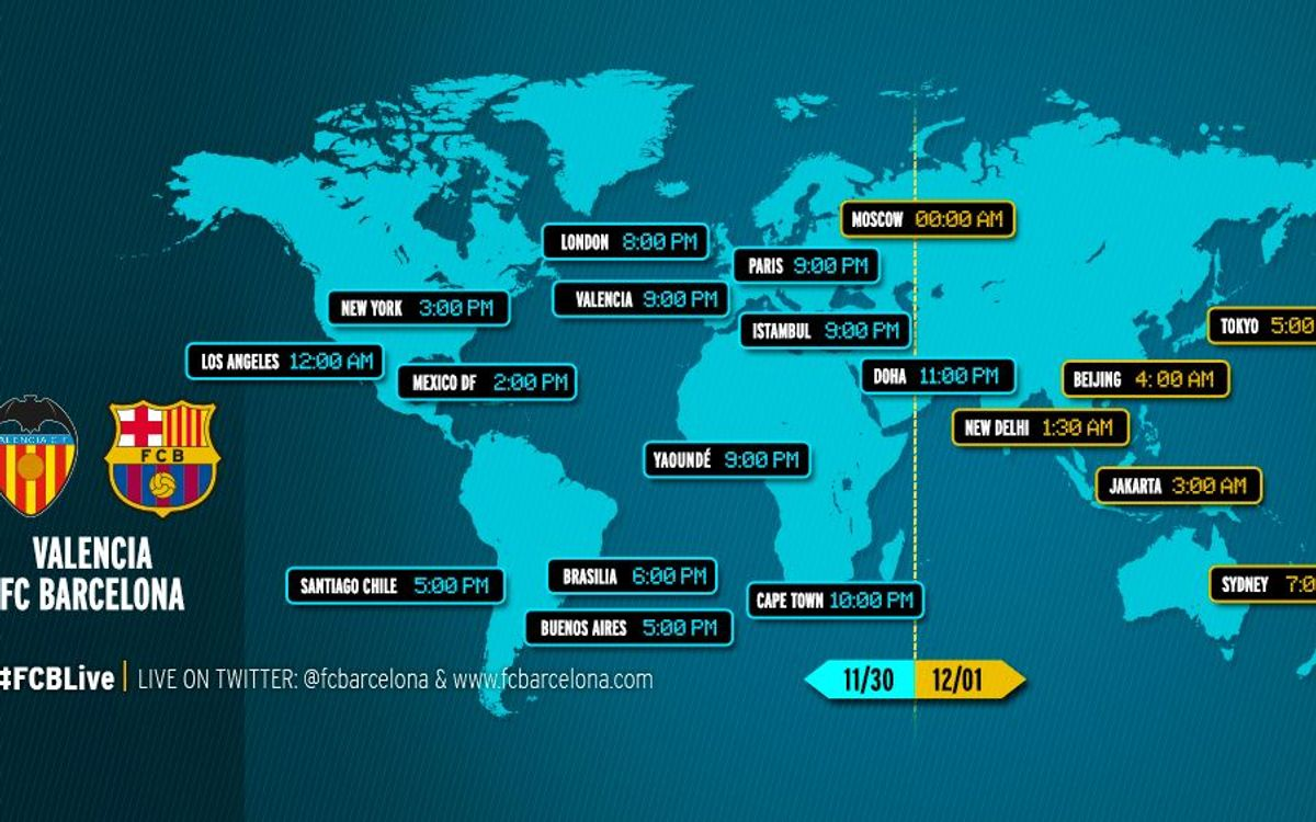 When and where to watch Valencia v FC Barcelona