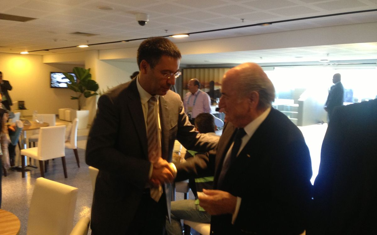 Meeting between Josep Maria Bartomeu and Joseph Blatter