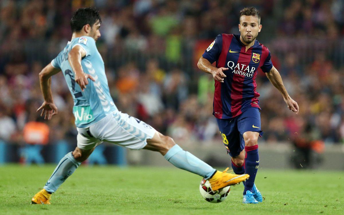 Jordi Alba, 50 league games for FC Barcelona