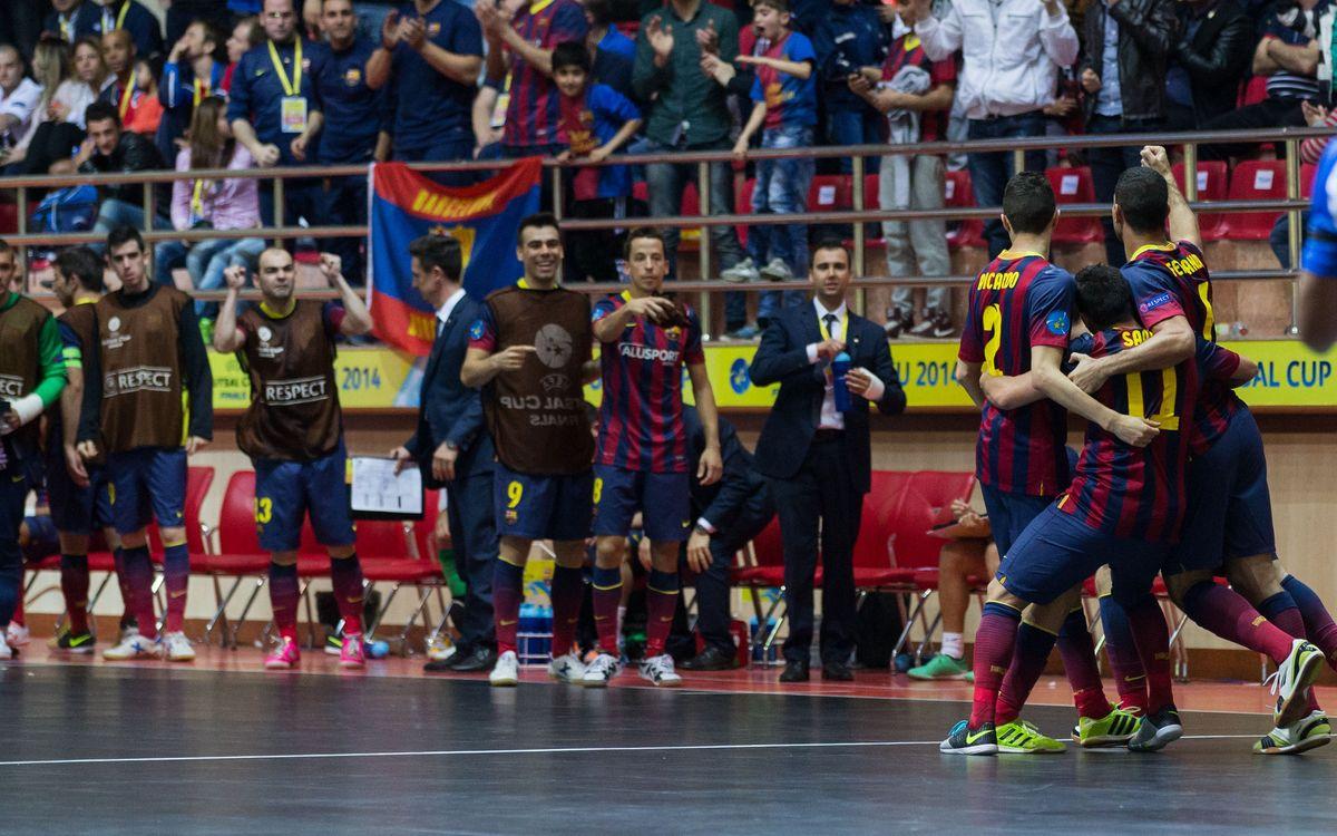 La segona UEFA Futsal Cup amplia el palmarès d'or del Barça