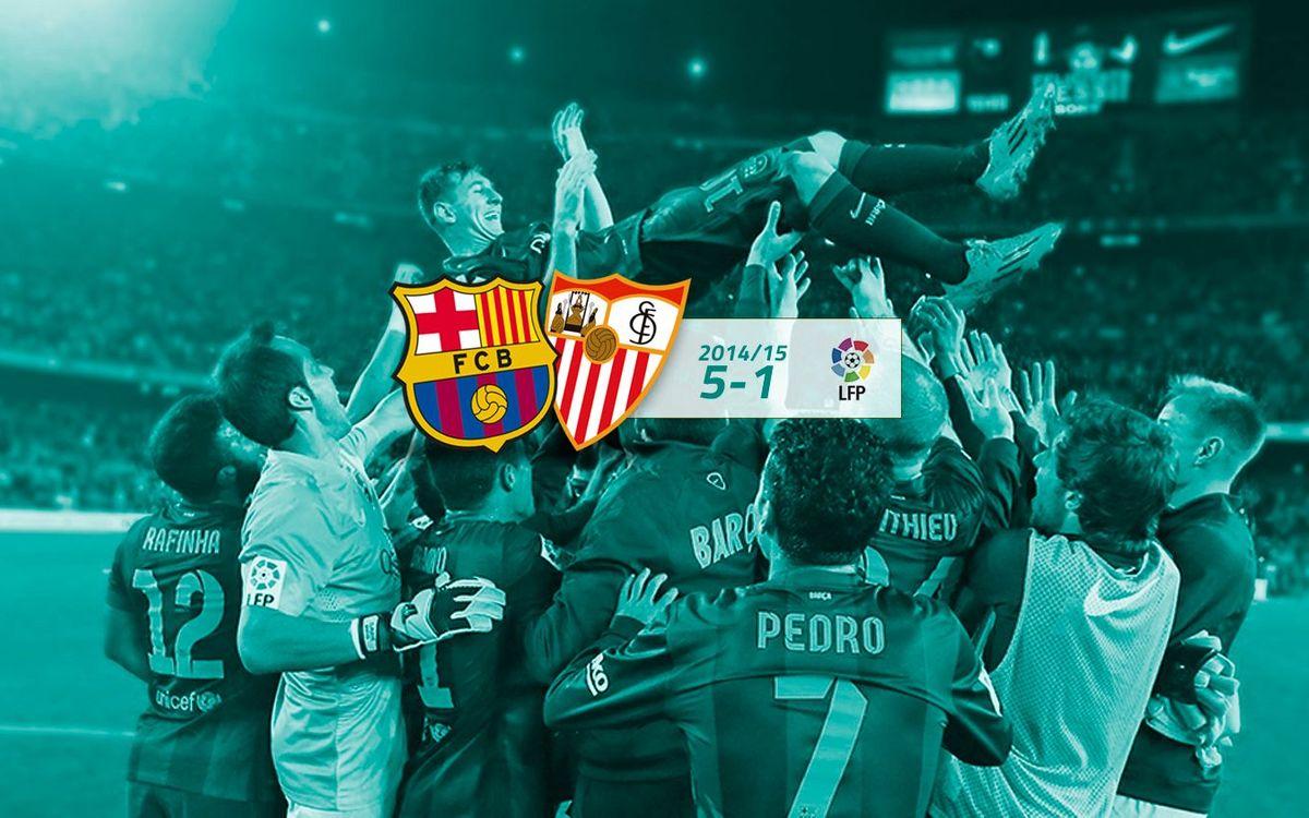 FC Barcelona: 5 - Sevilla: 1
