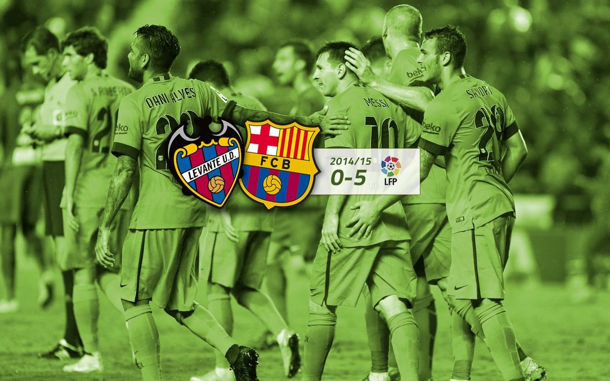Llevant: 0 - FC Barcelona: 5