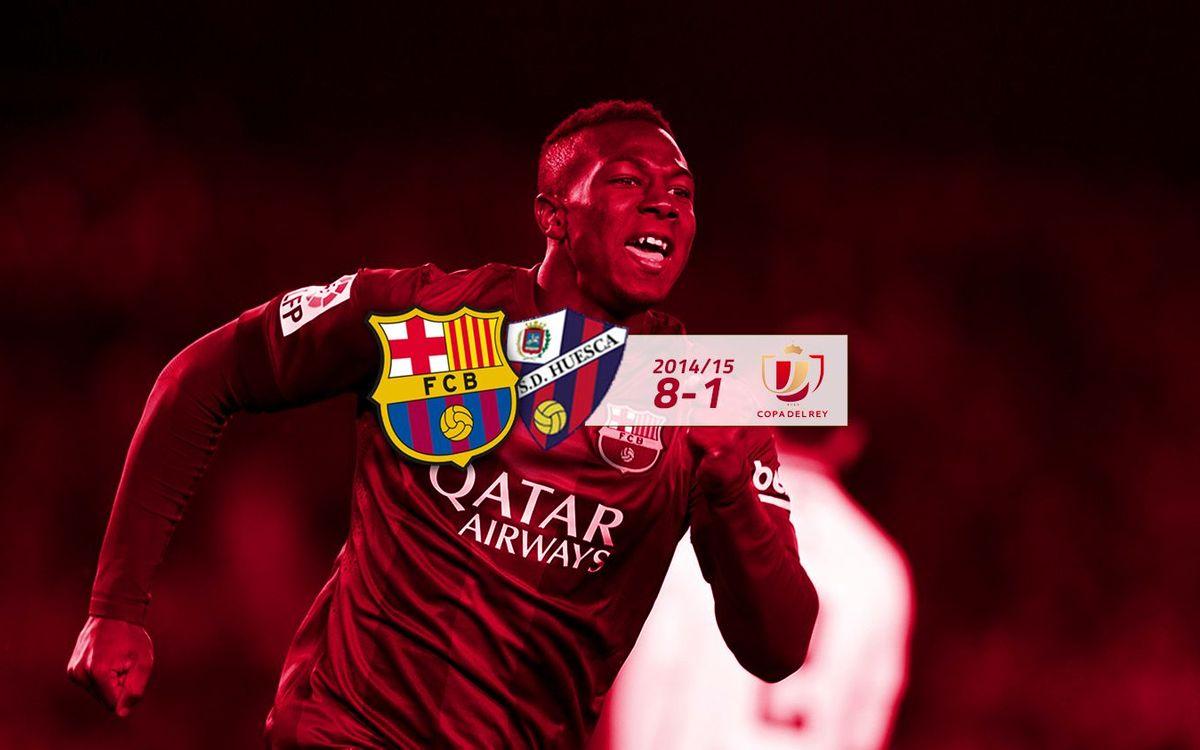 FC Barcelona: 8 - SD Huesca: 1