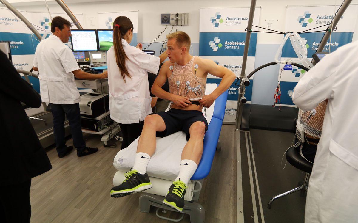 Arranca el Barça 2014/15 con pruebas médicas y físicas