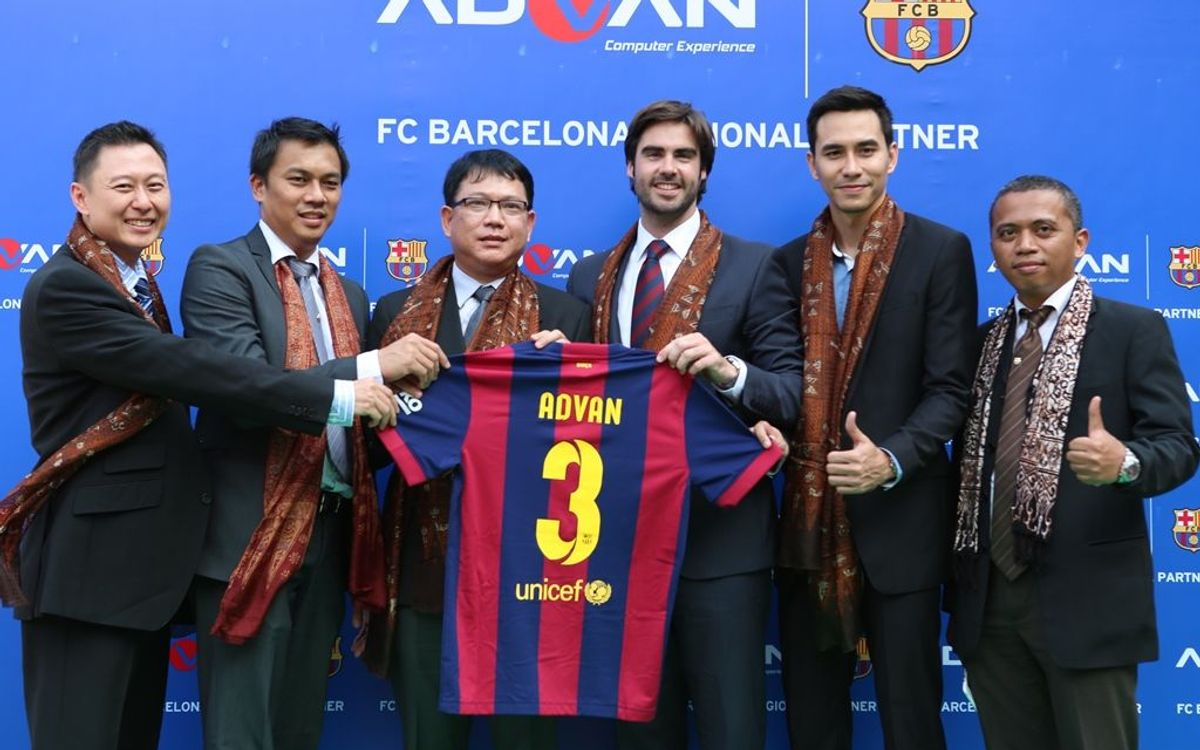 Advan, new FC Barcelona sponsor in Indonesia