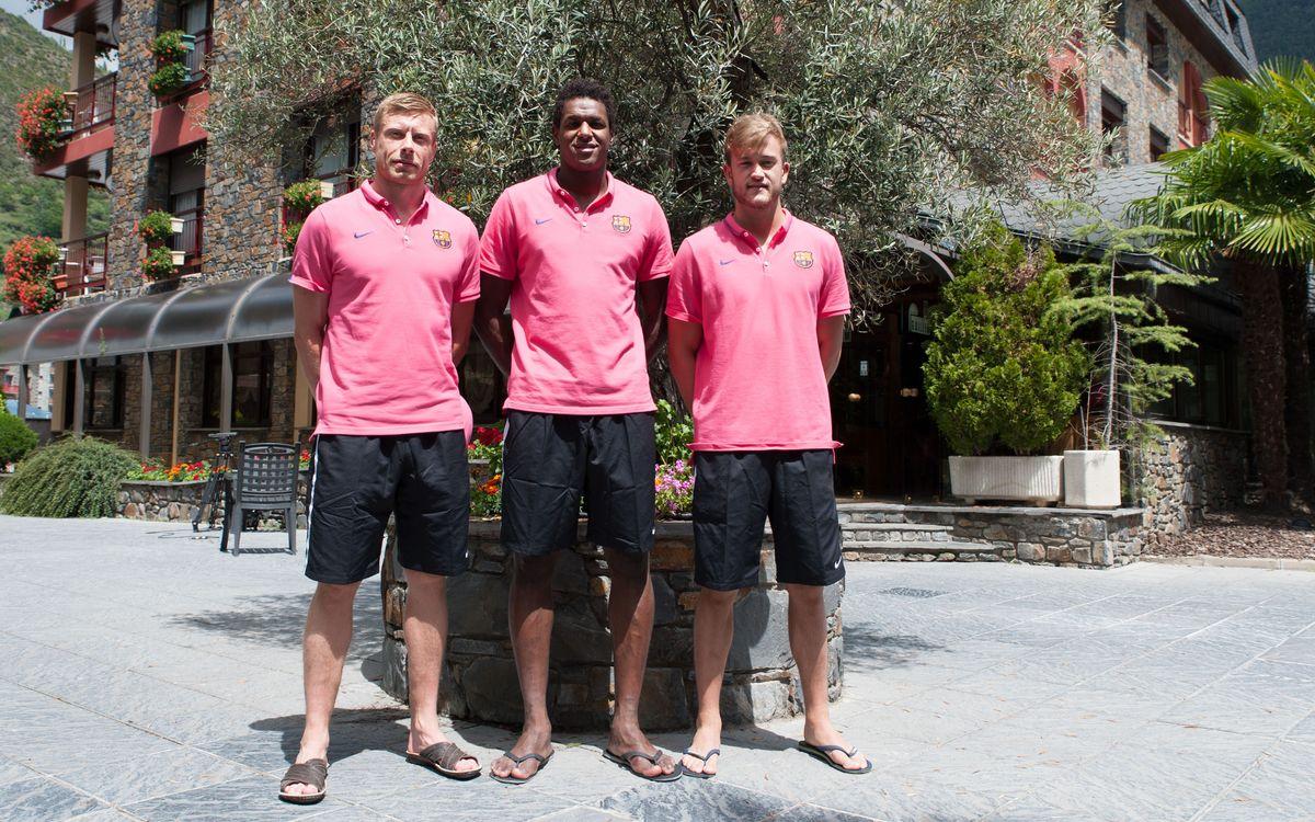 Els nous jugadors del Barça d'handbol