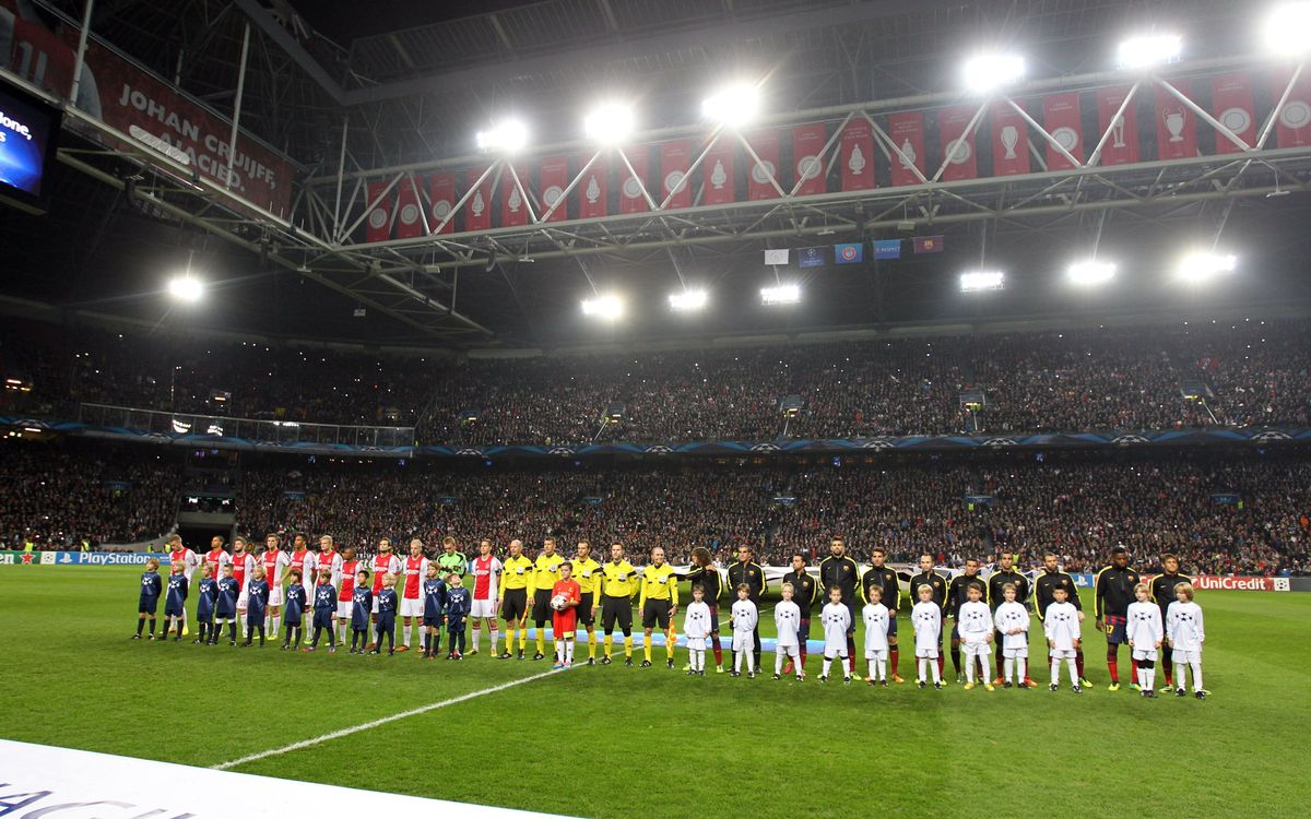 Ajax v FC Barcelona: Tickets assigned for Amsterdam Arena