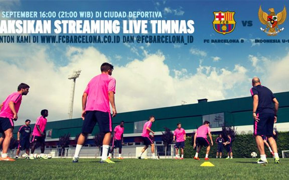 Friendly between FC Barcelona B and Indonesia U19