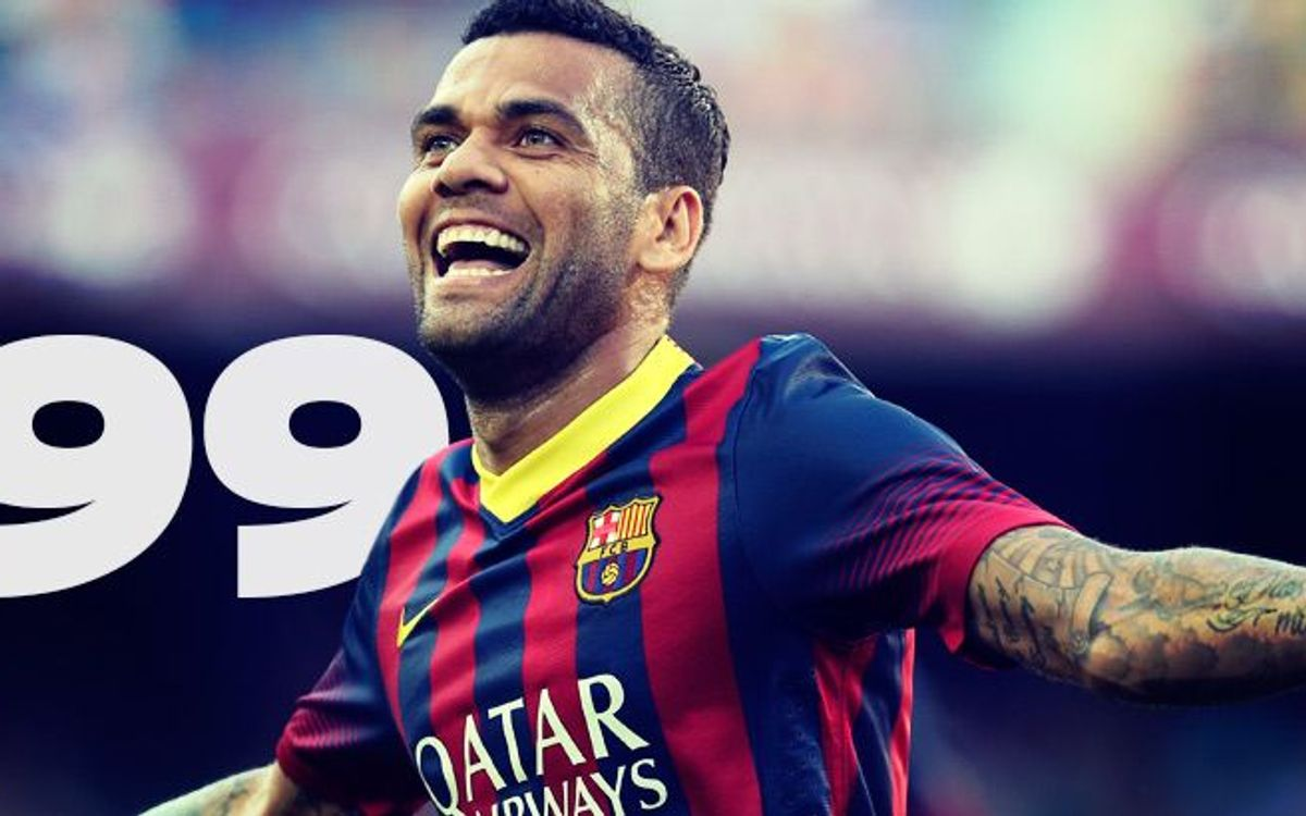 Dani Alves heading for third century
