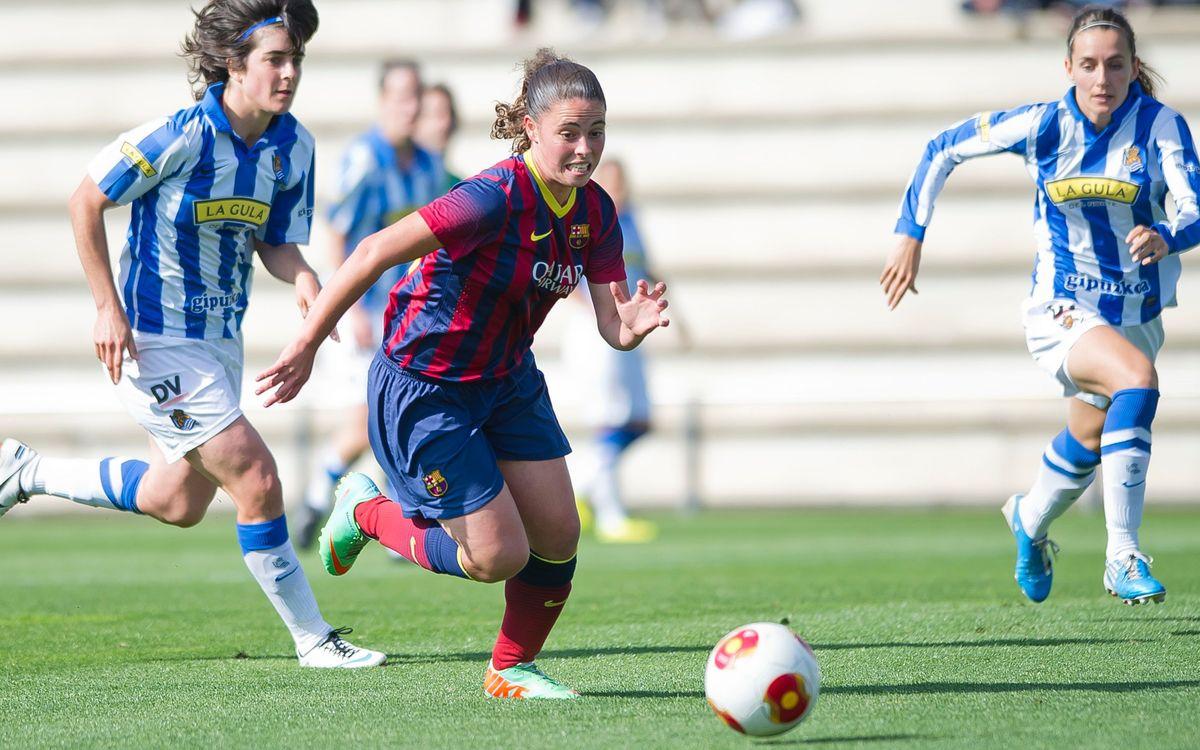 Femení A – Reial Societat: A semis! (0-0)