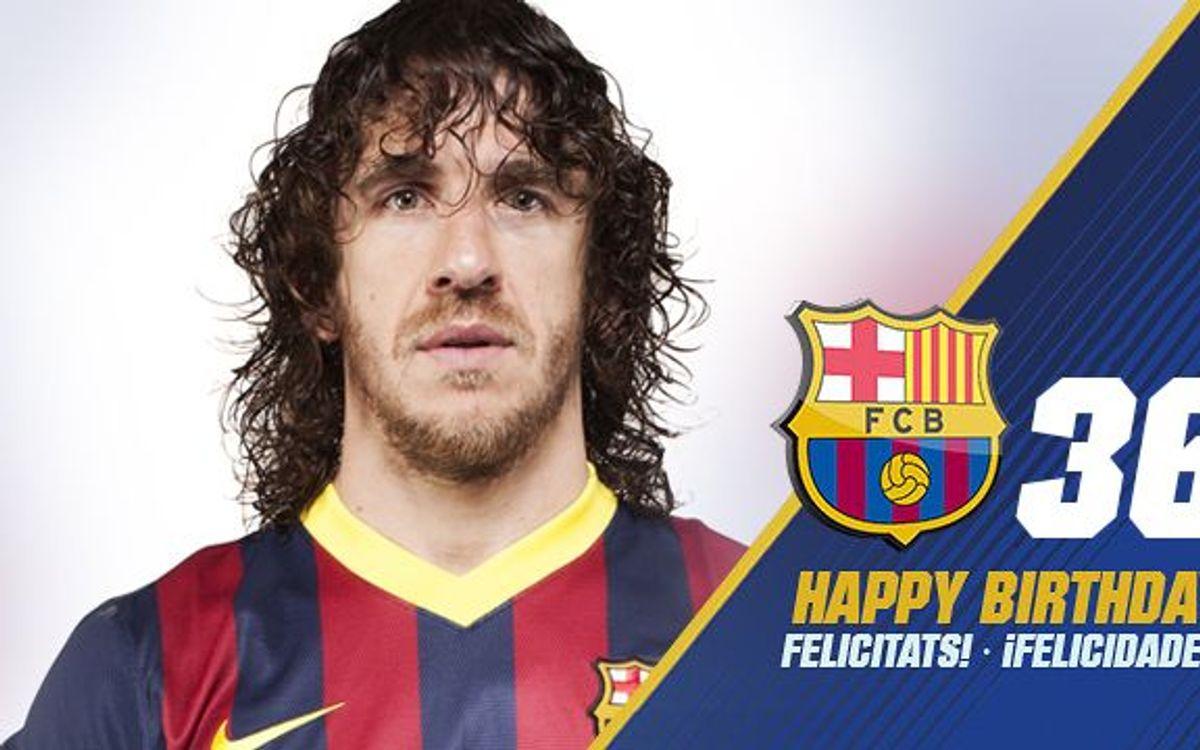¡Feliz cumpleaños, Puyol!
