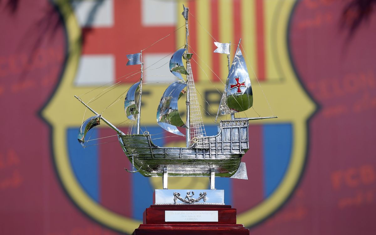Colombino Trophy arrives in Barcelona